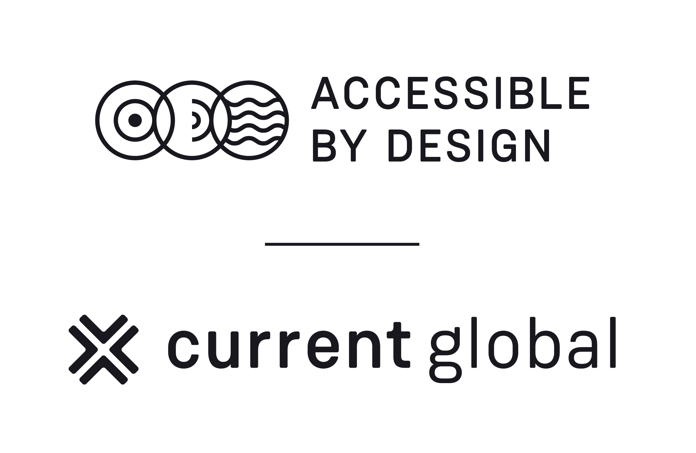 Logo of Current Global's Accessible by Design offer.